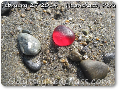 Huanchaco Beach Peru - Sea Glass reports February 27, 2014
