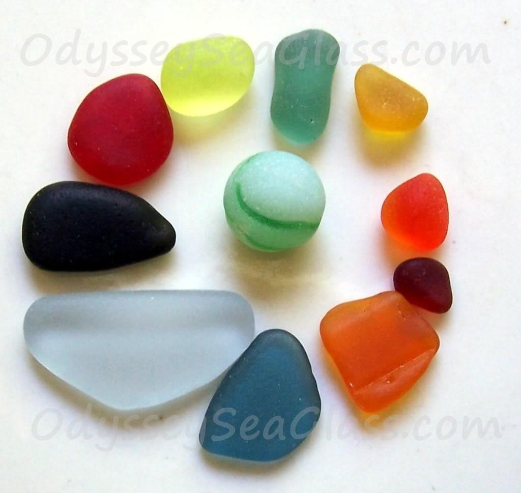 Rare Sea Glass Colors
