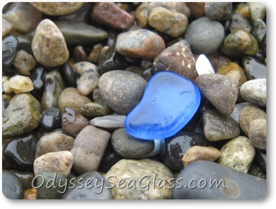 This blue was small but a very pleasing bright  colors. All the blues we found were pretty small.