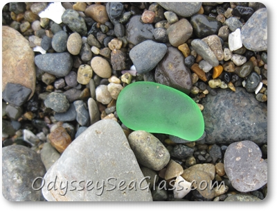 The last of our featured finds today was this green gem. Again, this color of green is not usually found.