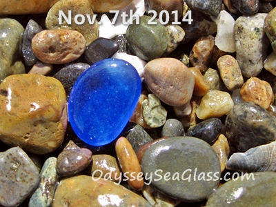 Perfect medium-small blue sea glass