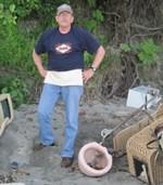 Sea Glass Dump Beach Toilet