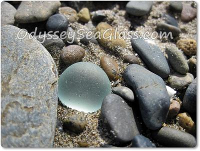 Beautifully rounded sea glass - and it's not a marble!