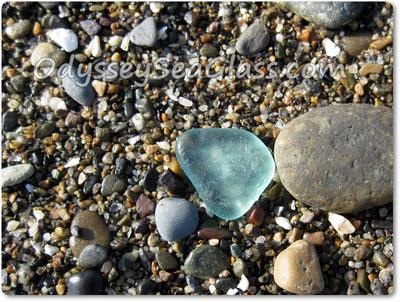 Nice blue color to this sea glass