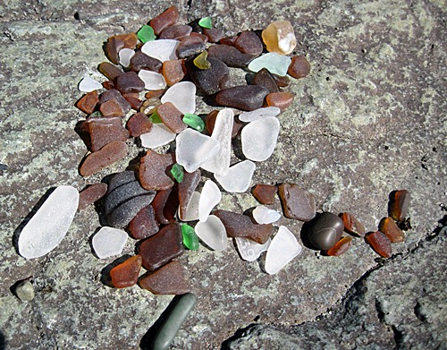 Bowman Beach, WA, Sea Glass