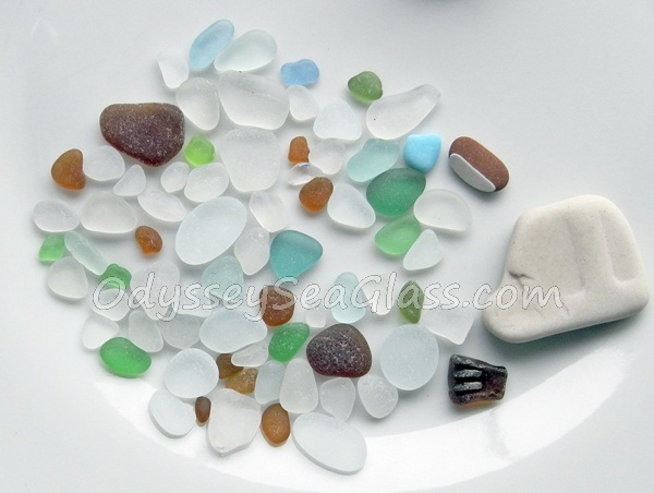 sea glass Huanchaco Peru beach