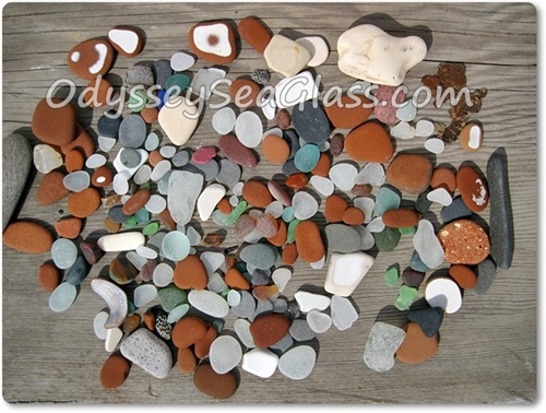 Sea glass catch of the day at Huanchaco Peru - best beach glass