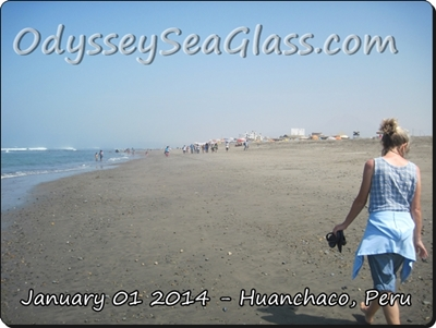 Huanchaco Peru Beach Glass of the sea
