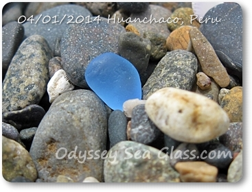 blue sea glass or beach glass