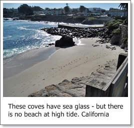 sea glass and tides tidal change