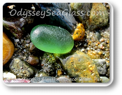 It is hard to find a completely perfect oval piece of sea glass like this one. What a gem!