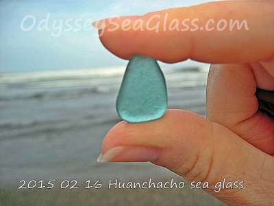 Bluish greenish sea glass, it is greener than it looks