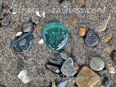 Catch of the day sea glass huanchaco peru south america bluish