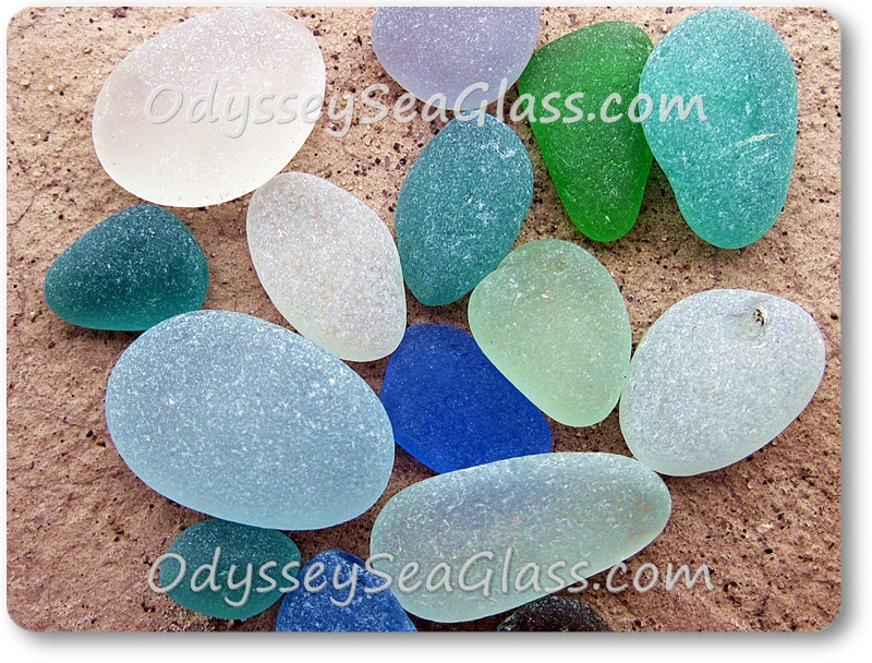 Selected from beach glass found this day