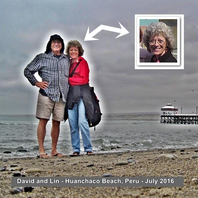 David and Lin Huanchaco Beach Peru sea glass search