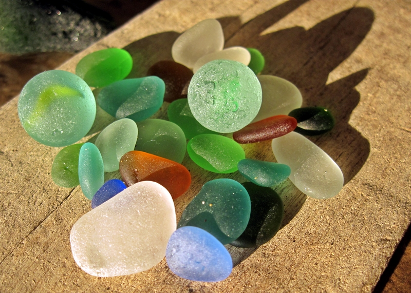 David and Lin Huanchaco Beach Peru sea glass search
