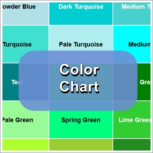 Sea Glass Color Chart