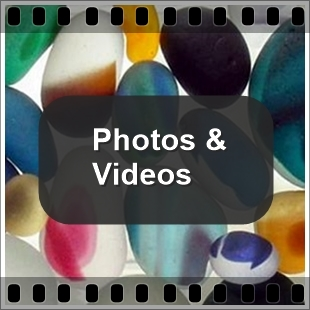 Sea Glass Photos and Beach Videos