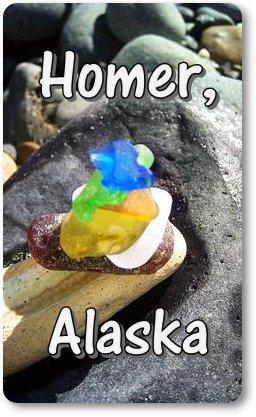 Sea Glass in alasksa uranium glass