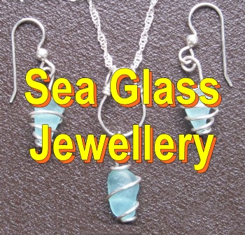 Sea Glass Jewelry Pendants Necklaces Bracelets Rings