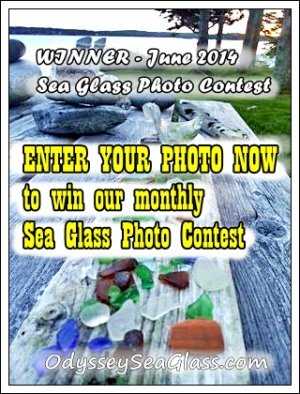 enter our online digitial contest for sea glass