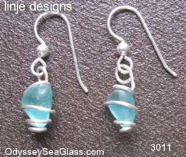 sea glass earrings Blue Sea Glass Earrings