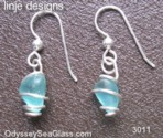 seaglass earrings linje designs