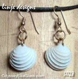 seashell earrings White Sea Shell Earrings