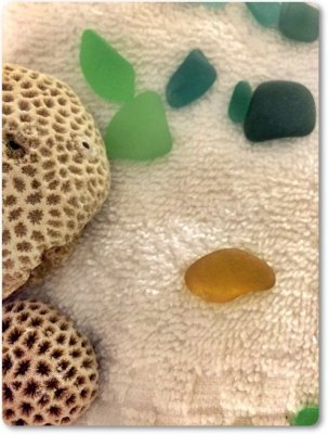 Puerto Rico Sea Glass from trip sent to OdysseySeaGlass