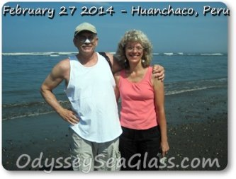 David and Lin  Huanchaco Peru for sea glass 2014