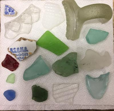 New Bedford, Massachusetts, Sea Glass from the beach