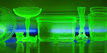 UV vaseline glass for sea glass