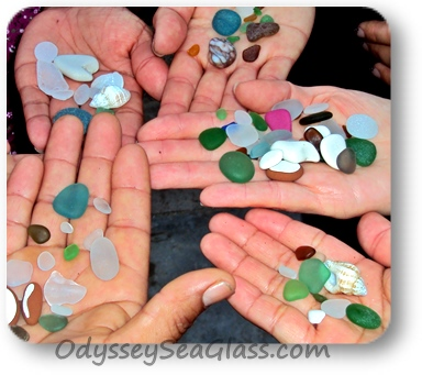 There's always a chance of finding rare sea glass