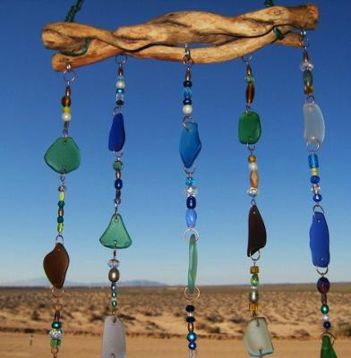 Sea glass suncatcher / Wind chime / mobile