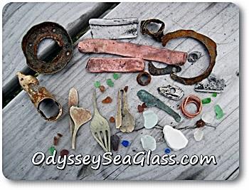 sea glass beach dumps picturesque junk