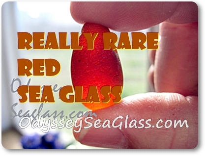 Rare red sea glass