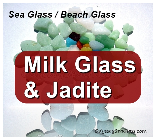 Graphic Milk Glass Jadite Beach Glass