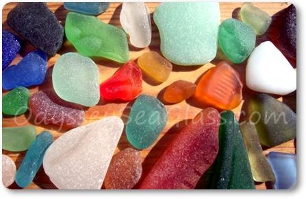 sea glass colors close