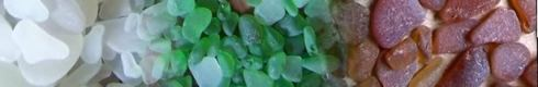 Common sea glass colors white green brown