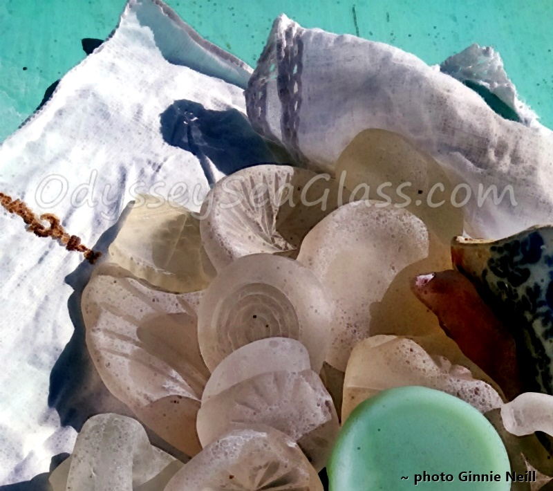 Jamaica Sea Glass Beach Depression Glass