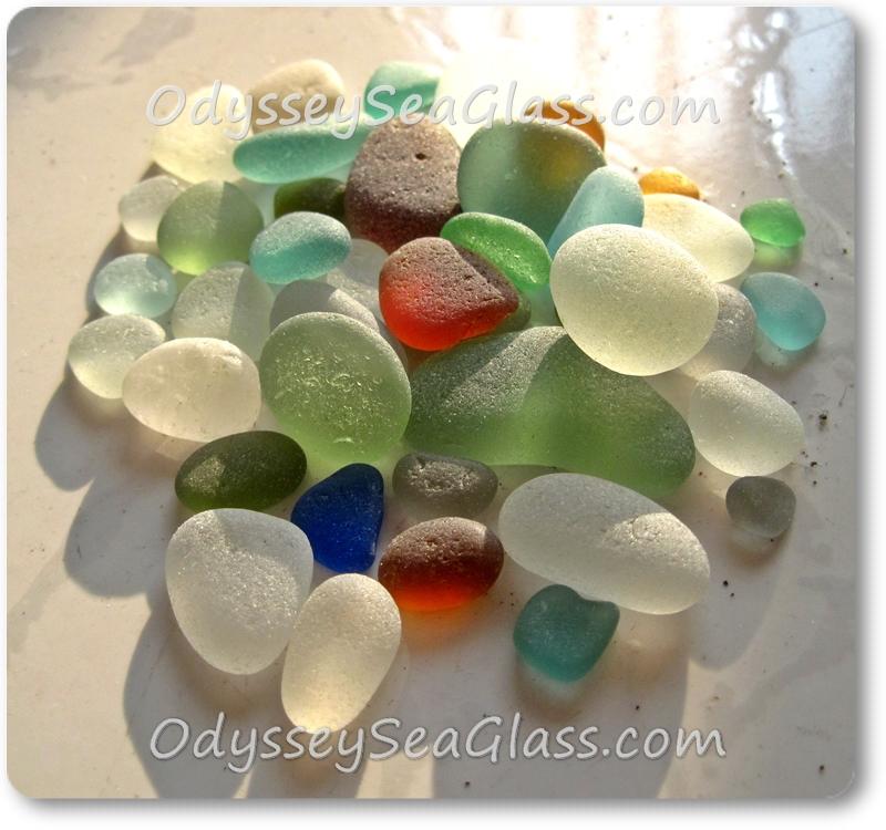 Sea Glass Color Chart - Huanchaco Beach