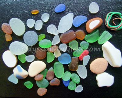 Sea Glass from less than 2 hours in Huanchaco, Peru