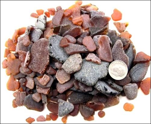 Bulk sea glass mosaic or craft grade 8 oz