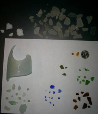My first beach glass experience