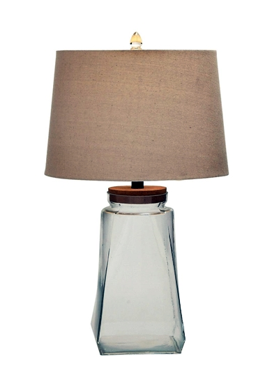 Benzara Classy and Stunning Glass Fillable Table Lamp