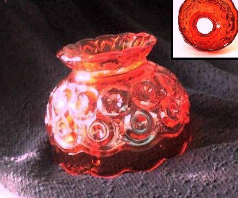 Red-orange Amberina Glassware