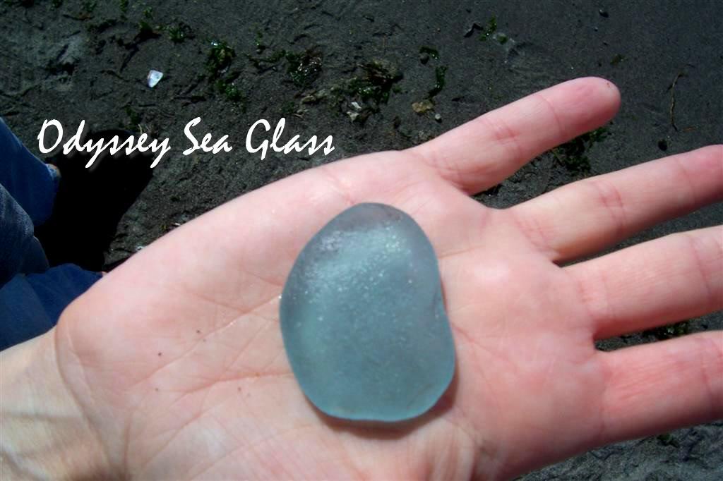 Giant Blue Sea Glass