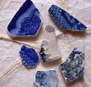 Beach Pottery Ceramics and Sea Glass