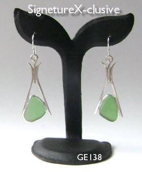 California Sea Glass Green earrings Signe X-clusive
