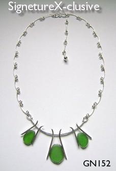 Green Seaglass Neclace